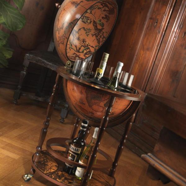 bar-globe-terrestre-mappemonde-vintage-vielli-sur pieds