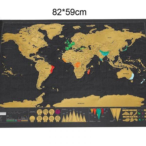 carte-du-monde-a-gratter-dorée-couleur-noir-verte3
