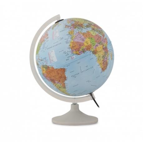 C'est un globe terrestre interactif enfant lumineux bleu parlamondo avec stylet